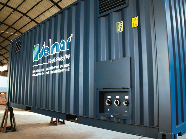 Containerized desalination plants